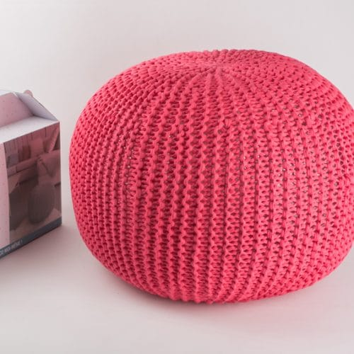 Kit DIY Je tricote mon pouf corail Phildar - The Funky Fresh Project
