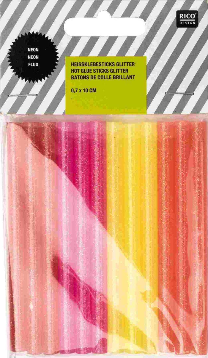 12 petits bâtons de colle fluo - Rico Design - The Funky Fresh Project