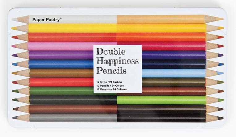 12 crayons de couleurs doubles Paper Poetry - Rico Design - The Funky Fresh Project