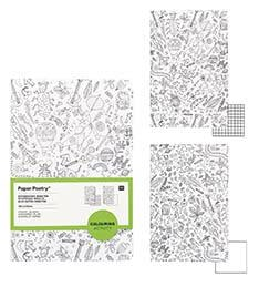2 bloc-notes insectes à colorier Paper Poetry - Rico Design - The Funky Fresh Project